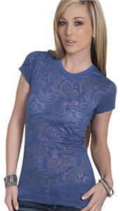 Cotton Heritage Ladies Paisley Crew Neck Tee