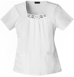 Cherokee Women's Fashion Square Neck Scrub Tops
