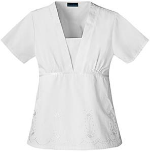 Cherokee Women's Fashion Embroidery Scrub Tops