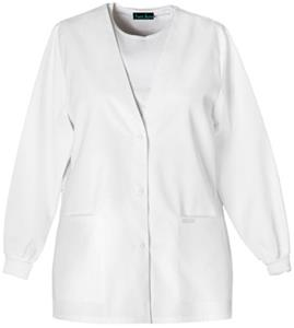Cherokee Women&#39;s Pro White Warm-up Scrub Cardigans