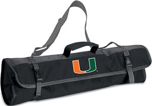 Picnic Time University of Miami 3-Pc BBQ Set