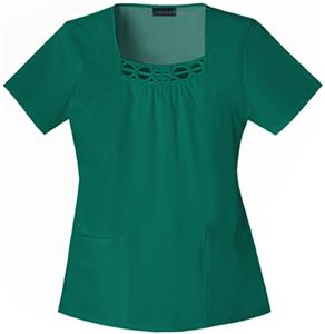 Cherokee Women&#39;s Fashion Square Neck Scrub Tops
