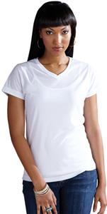 LAT Sportswear Ladies Polyester V-Neck T-Shirt