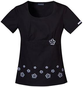 Cherokee Women's Fashion Daisy Border Scrub Tops