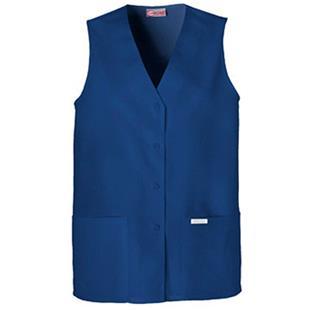Cherokee Women's Fashion Button Down Scrub Vests