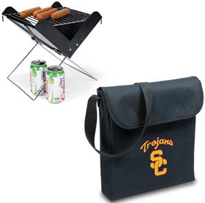 Picnic Time USC Trojans Portable V-Grill &amp; Tote