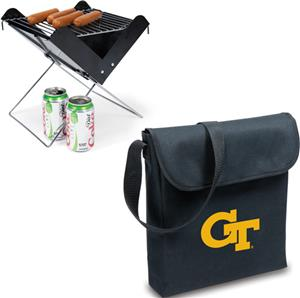 Picnic Time Georgia Tech Portable V-Grill &amp; Tote