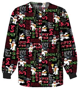 Cherokee Tooniforms Ho Ho Frosty Scrub Jackets