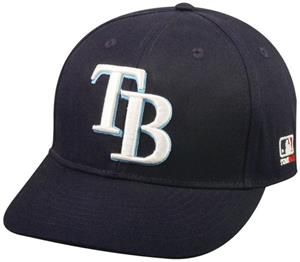 OC Sports MLB Tampa Bay Rays Home Cap w/CF2 Visor