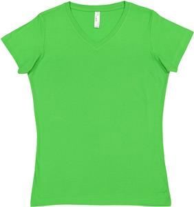 LAT Sportswear Ladies Fine Jersey V-Neck T-Shirt