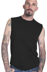 Cotton Heritage Men&#39;s Basic Sleeveless Muscle Tee