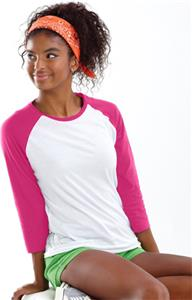 LAT Sportswear Jr 3/4 Sleeve Baseball Tee