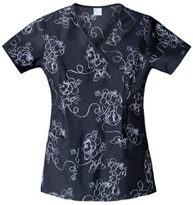 Cherokee Tooniforms Minnie Schiffli Scrub Tops