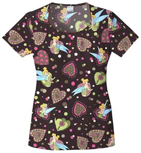 Cherokee Tooniforms Tink Pop Scrub Tops