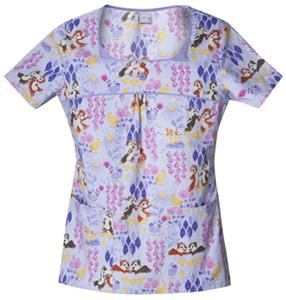 Cherokee Tooniforms Flower Friends Scrub Tops