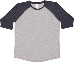 LAT Sportswear Youth 3/4 Sleeve Baseball Tee