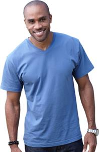 LAT Sportswear Adult Fine Jersey V-Neck T-Shirts