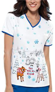 Cherokee Tooniforms You Make Me Blush Scrub Tops