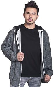 Unisex Salt & Pepper Zipper Hooded Fleece