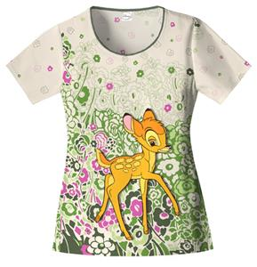Cherokee Tooniforms Bambi Nouveau Scrub Tops