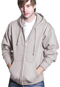Cotton Heritage Men's Heavy Zip Up Hooded Fleece