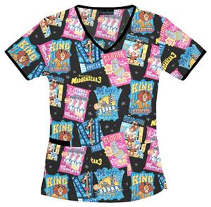 Cherokee Tooniforms Madagascar Circus Scrub Tops