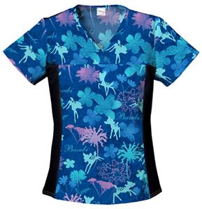 Cherokee Tooniforms Bambi Meadow Scrub Tops