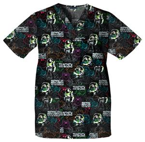 Cherokee Tooniforms Buzz Lightyear Scrub Tops