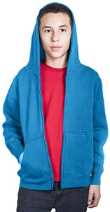 Cotton Heritage Youth Zipper Hooded Fleece