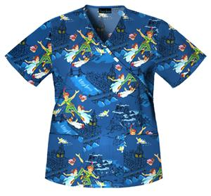 Cherokee Tooniforms Off To Neverland Scrub Tops