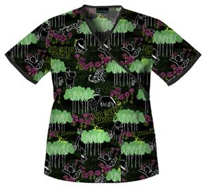 Cherokee Tooniforms Walk In The Woods Scrub Tops