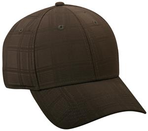 OC Sports Adjustable Tonal Plaid Baseball Cap