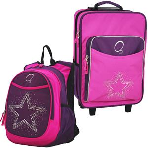 Kids Luggage &amp; Backpack Set Bling Rhinestone Star