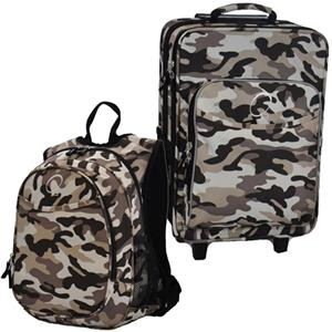 Kids Luggage & Backpack Set Camo