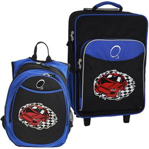 Kids Luggage & Backpack Set Racecar