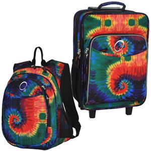 Kids Luggage & Backpack Set Tie Dye