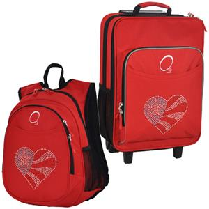 Kids Luggage & Backpack Set Flag Heart