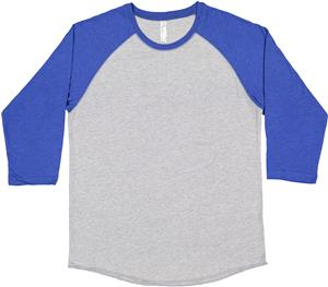 LAT Sportswear Adult 3/4 Sleeve Baseball T-Shirts