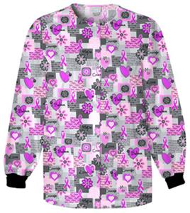 Cherokee Women&#39;s H.Q. Print Warm-Up Scrub Jackets