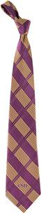 Eagles Wings NCAA LSU Woven Plaid Tie