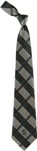 Eagles Wings NCAA Michigan State Woven Plaid Tie