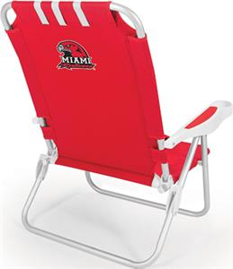 Picnic Time Miami University (Ohio) Monaco Chair