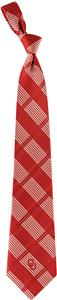 Eagles Wings NCAA Oklahoma Woven Plaid Tie