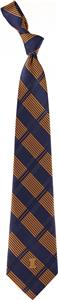 Eagles Wings NCAA Illinois Woven Plaid Tie