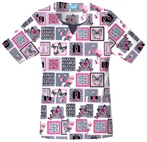 Cherokee Women's H.Q. Print Scoop Neck Scrub Tops