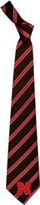 Eagles Wings NCAA Nebraska Woven Poly 1 Tie