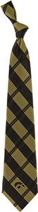 Eagles Wings NCAA Iowa Woven Plaid Tie