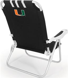 Picnic Time University of Miami Monaco Chair