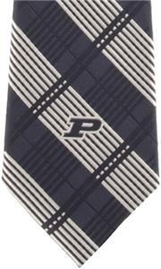 Eagles Wings NCAA Purdue Woven Plaid Tie