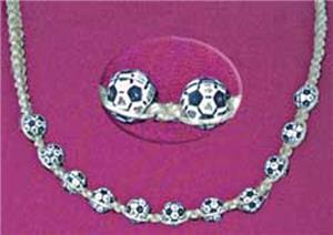 Braided  Soccer Ball  Necklace